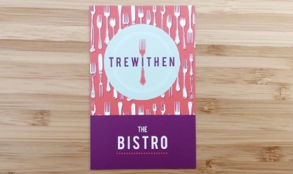 Business card design for Trewithen Bistro and Wine Bar