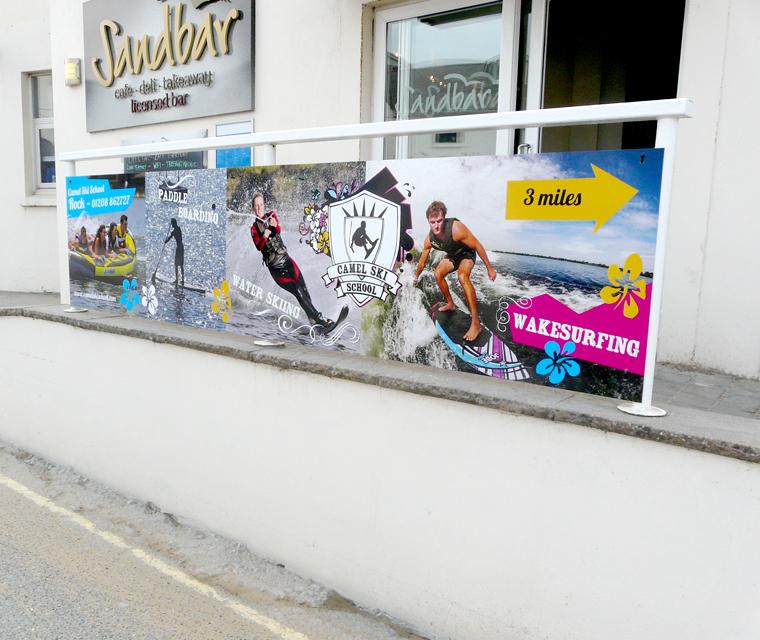 Camel Ski School Beachfront Signage