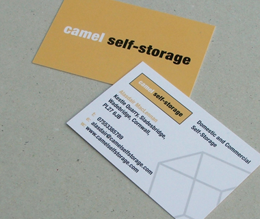 Business card design for Camel Self-Storage