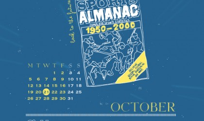 The October 2015 Time Travel Calendar featuring Back to the Future