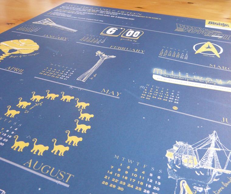 A2 2015 Calendar Poster