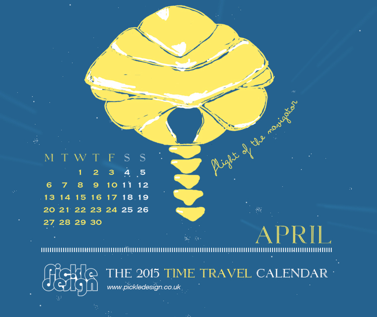 The April 2015 Time Travel Calendar featuring Flight of the Navigator