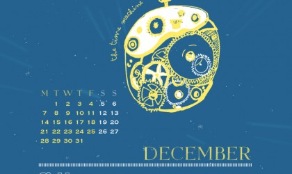 The December 2015 Time Travel Calendar featuring The Time Machine