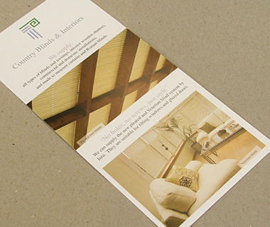 Country Blinds & Interiors DL Leaflet