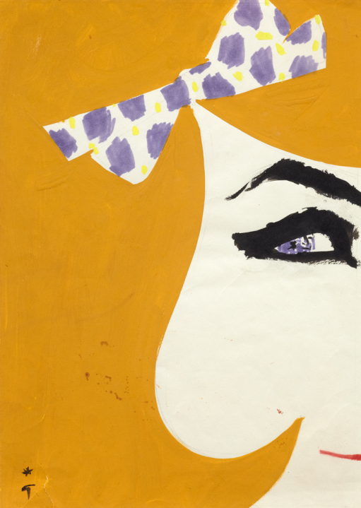 Cover for International Textiles, 1964, by René Gruau