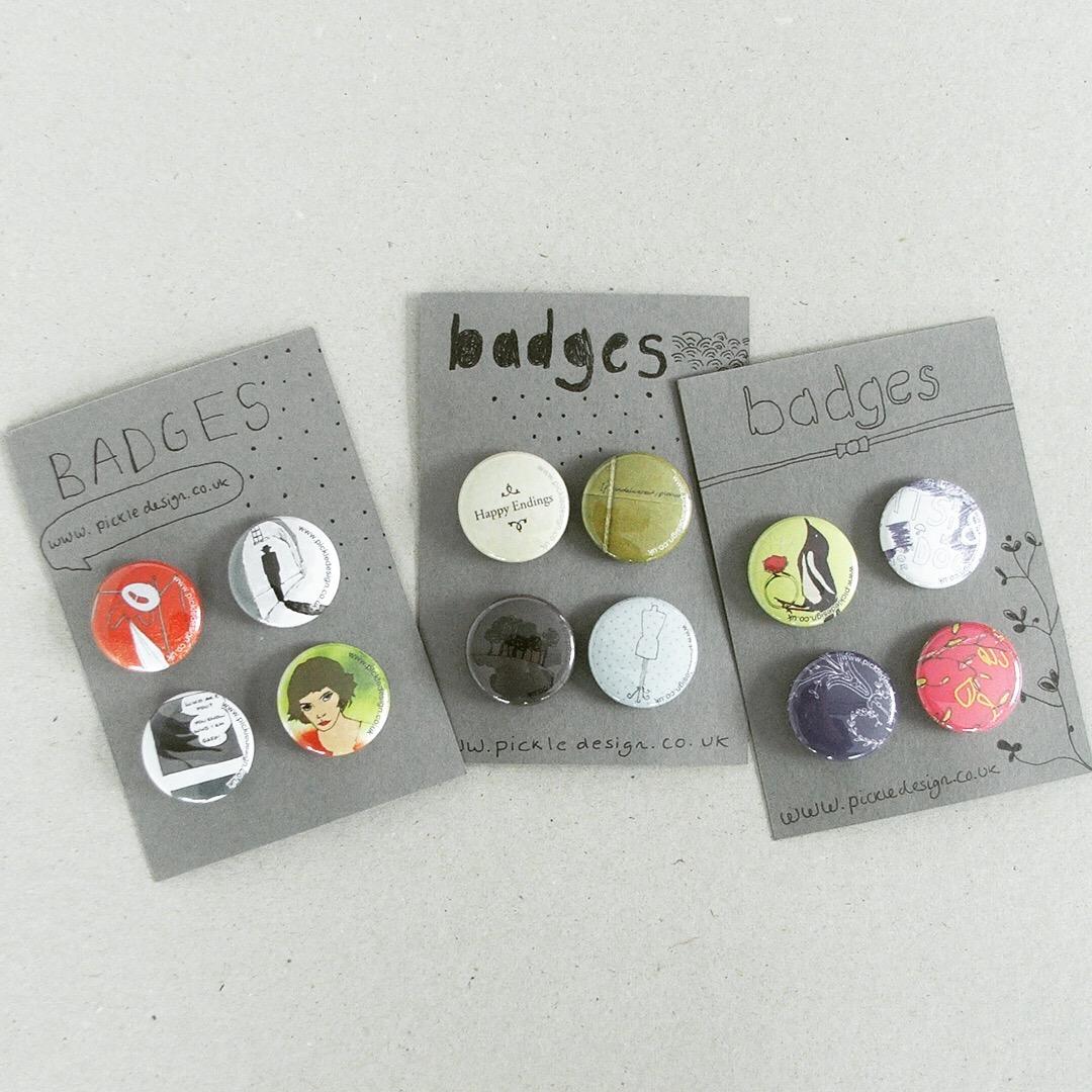 The badges we created to go alongside our 2009 calendar