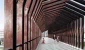 Wooden footbridge in China by ADARC