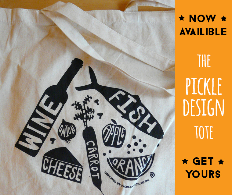 Pickle Design Limited Edition Tote Bags
