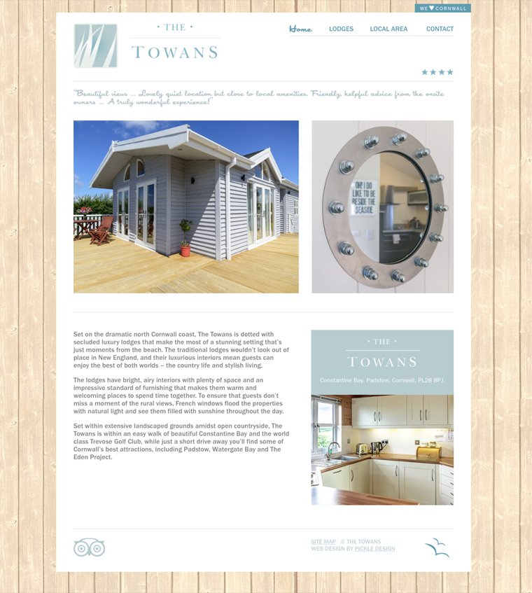 The Towans lodges Home page