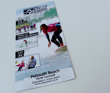 Cover of the Wavehunters Surf School leaflet