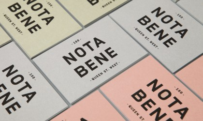 Print design for Nota Bene by Blok