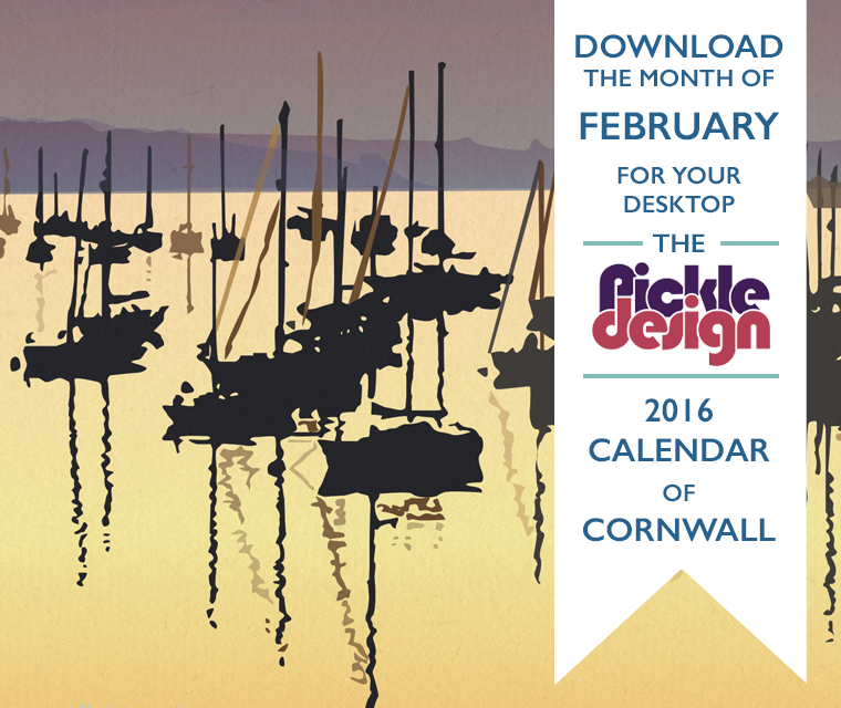 Falmouth, Cornwall illustration on February's Pickle Calendar