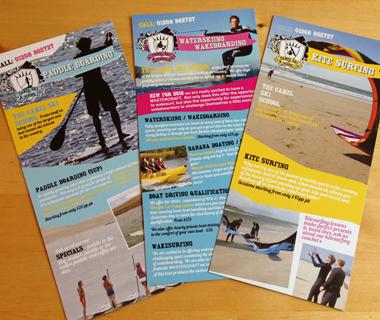 DL flyer design for Camel Ski School