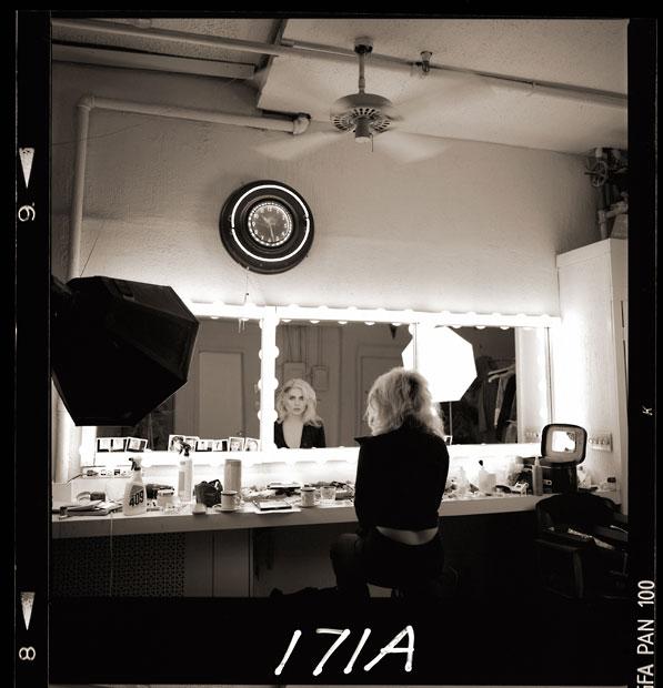 Debbie Harry, Dressing Room Mirror, New York Studio, 1985, by Brian Aris