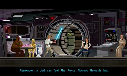 8 bit Star Wars: A New Hope illustration by Gustavo Viselner