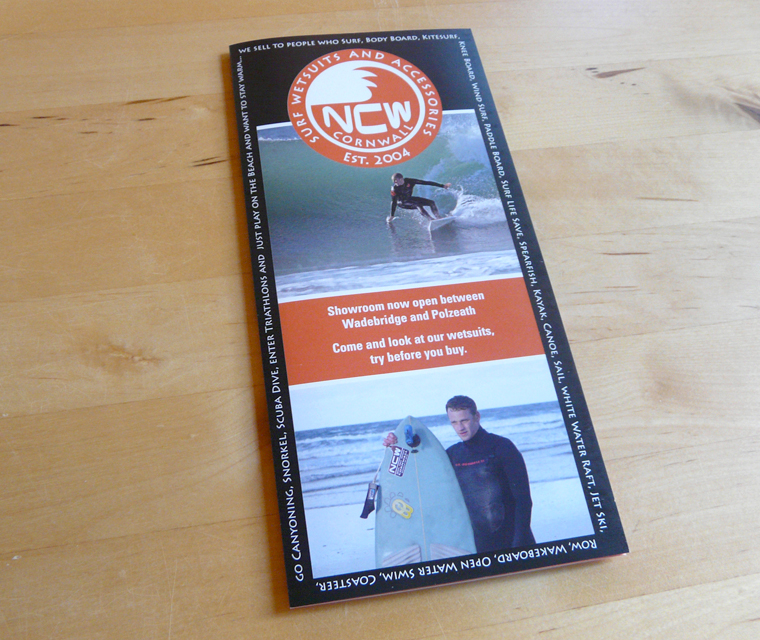 Cover of the North Coast Wetsuits leaflet