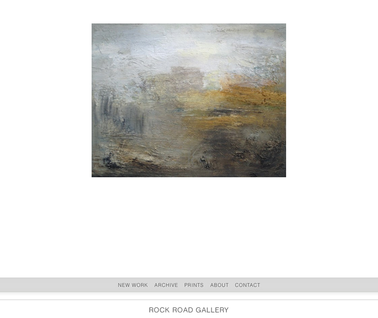 Homepage of the responsive website design for Rock Road Gallery