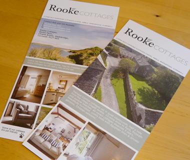 DL flyer design for Rooke Cottages