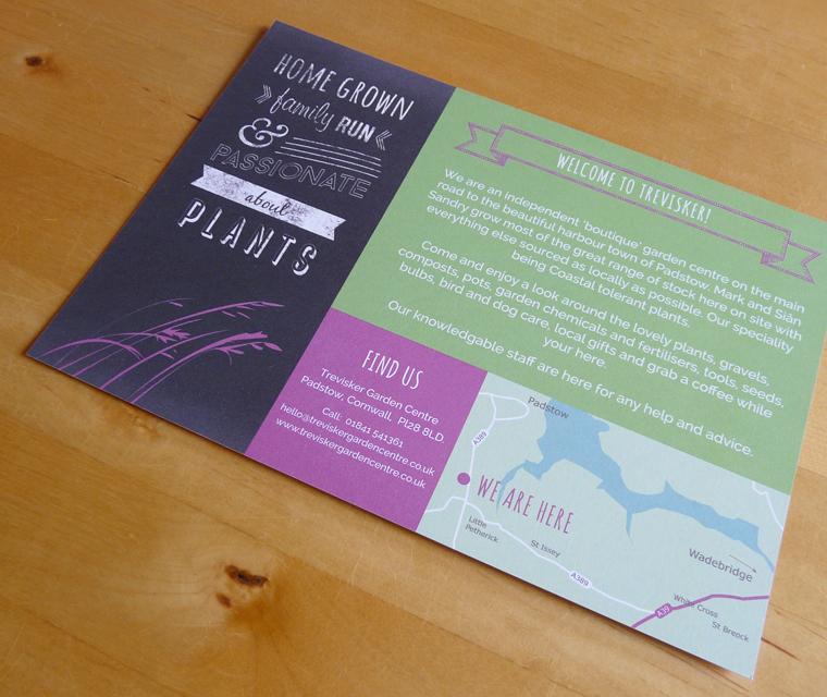 Reverse of the Trevisker Garden Centre flyer