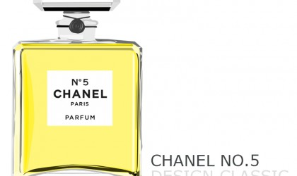 Our illustration of Chanel No.5 perfume design classic