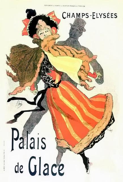 Poster design, Palais de Glace, Champs-Élysées by Jules Chéret