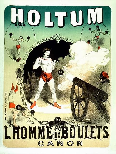Poster design for the strongman John Holtum by Jules Chéret
