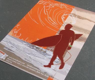 Poster design for Bored Lizard Surf Shop