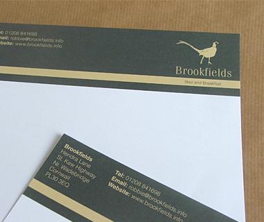 Letterhead design for Brookfields B&B