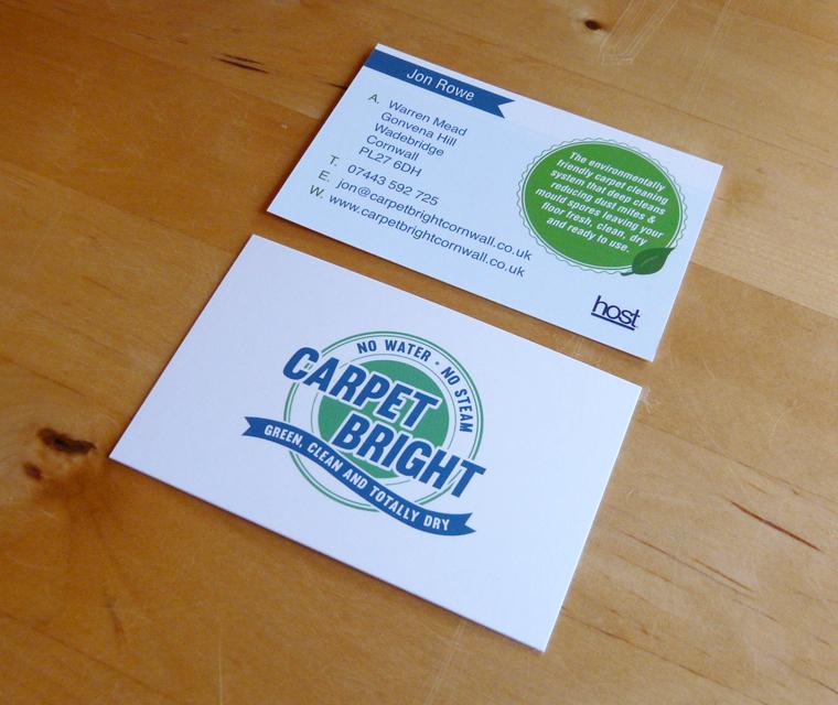 Business Card design for Carpet Bright