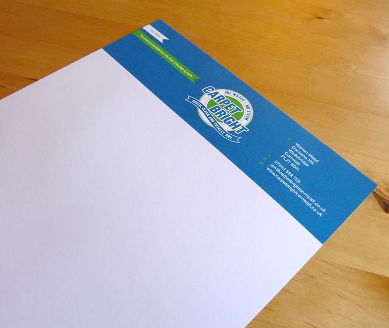 Letterhead design for Carpet Bright