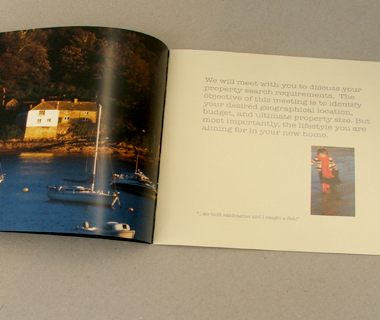 A spread from the brochure we designed for Grand Locations