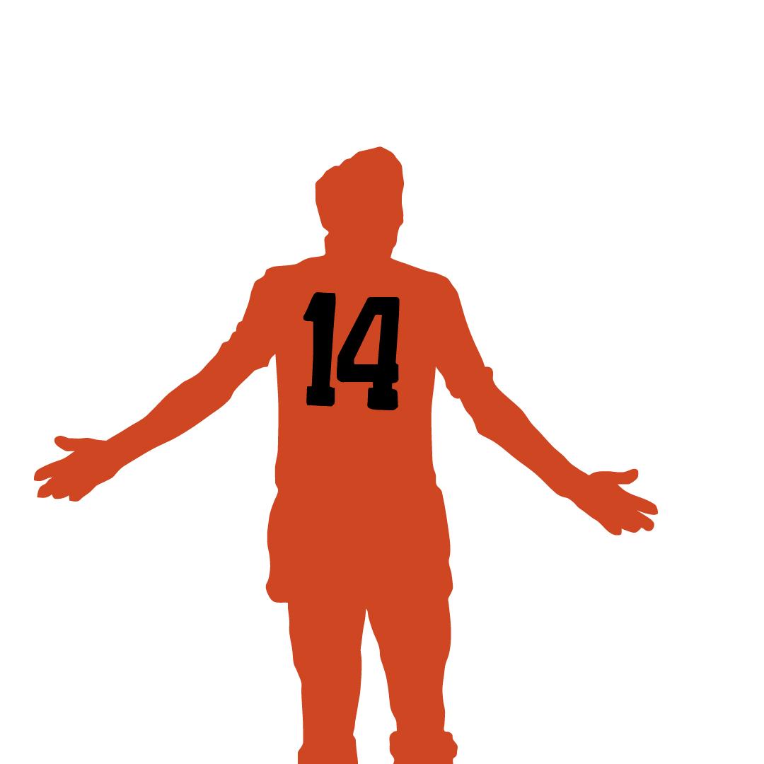 Silhouette illustration of the great Johan Cruyff