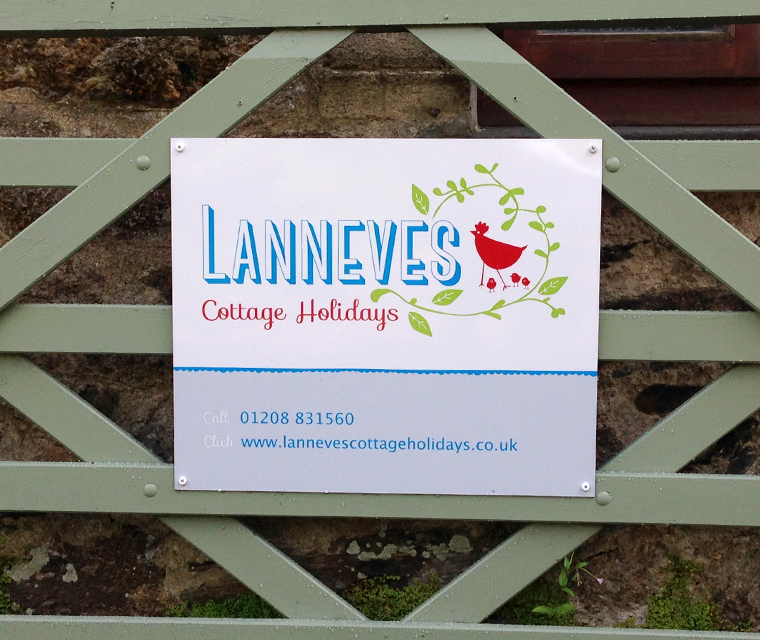 Sign design for Lanneves Cottage Holidays