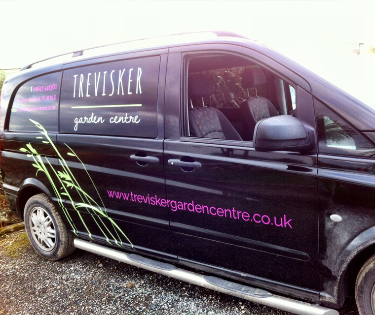 Vehicle graphics design for Trevisker Garden Centre