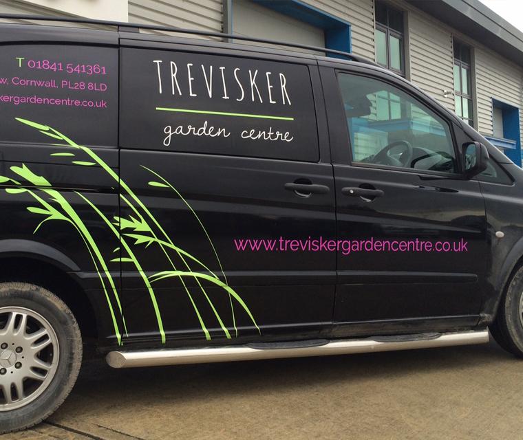 Van graphics design for Trevisker Garden Centre