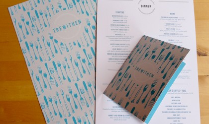 Stationery design for Trewithen Restaurant