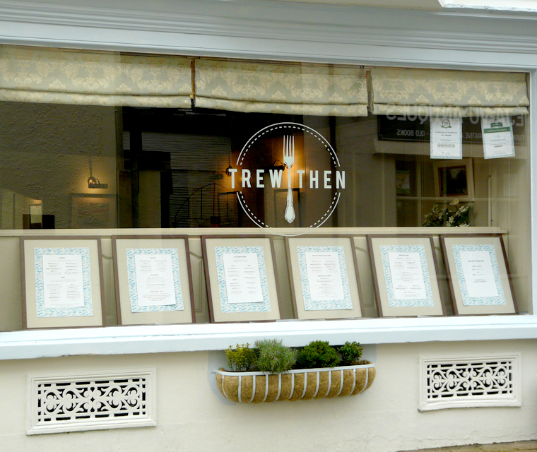 Window graphics design for Trewithen Restaurant