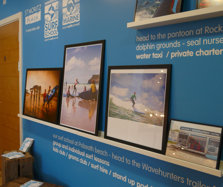 Wall graphics design for Wavehunters Surf School