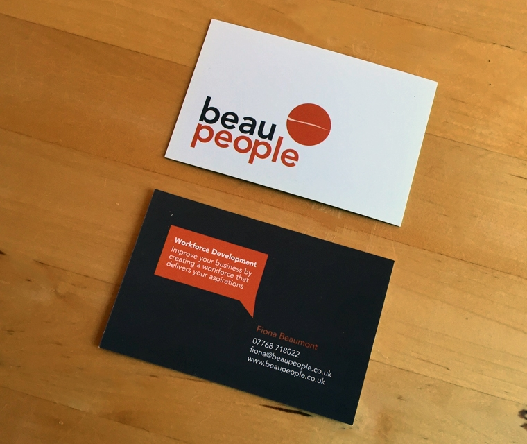 BeauPeople business card design