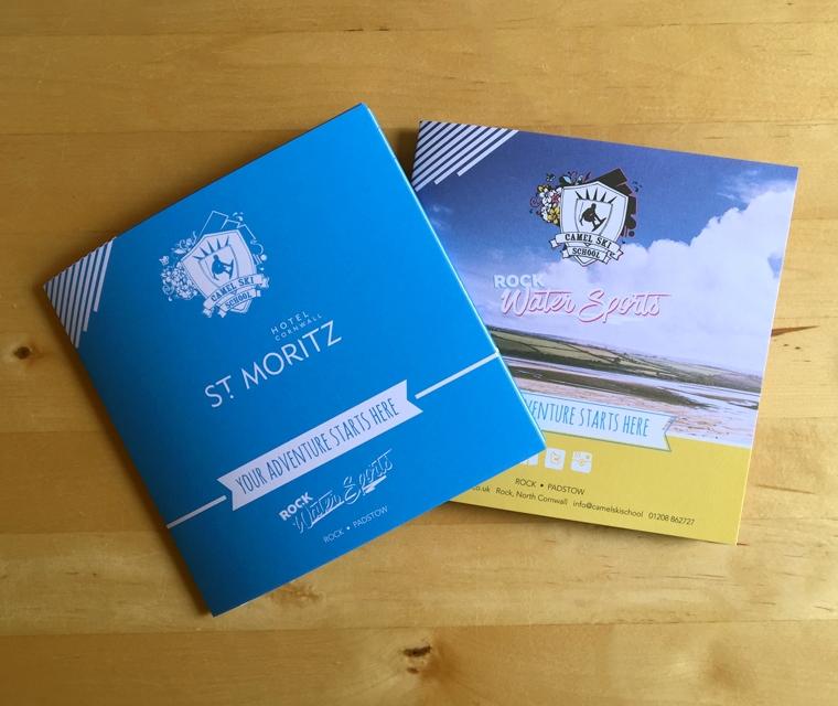 Brochure with wrap, dust jacket design