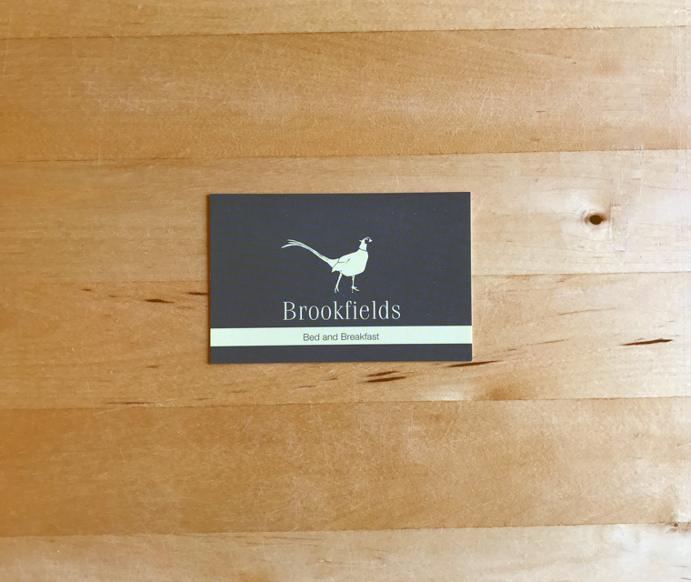 Brookfields B&B business card
