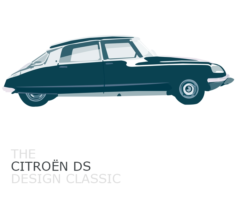 Our illustration of the Citroën DS, a design classic