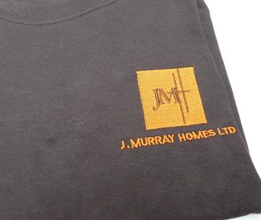 Sweatshirt embroidery for J.Murray Homes