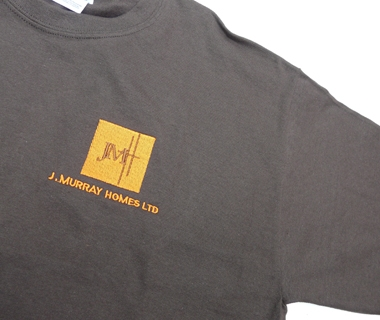 T-shirt embroidery for J.Murray Homes