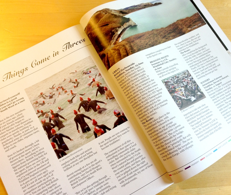 Spreads for The South West Magazine