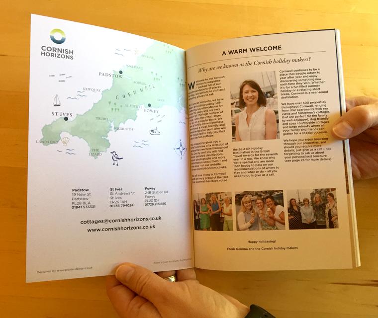 Cornish Horizons magazine map