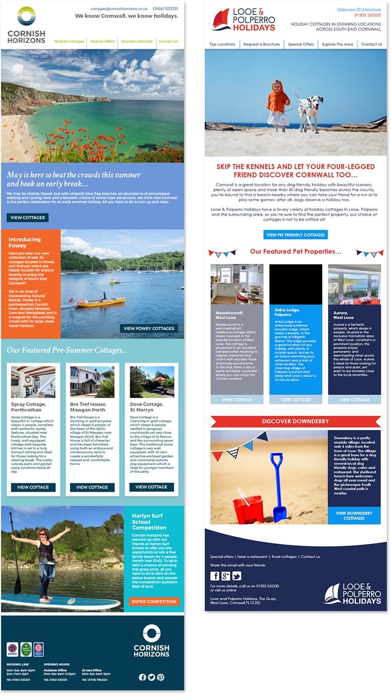 Newsletter design for Cornish Horizons
