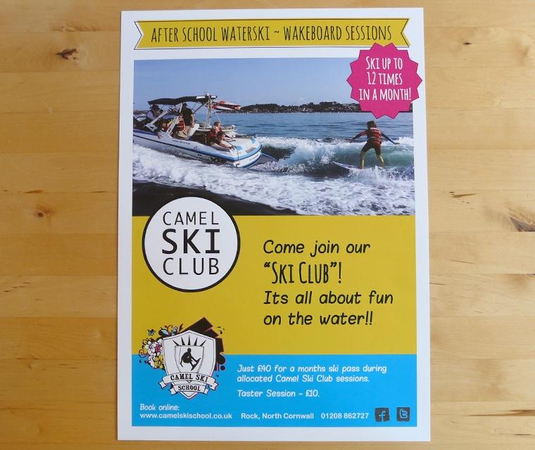 A4 poster for Camel Ski School