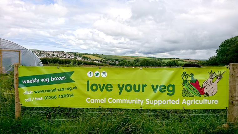banner design for community veg growing project Camel CSA