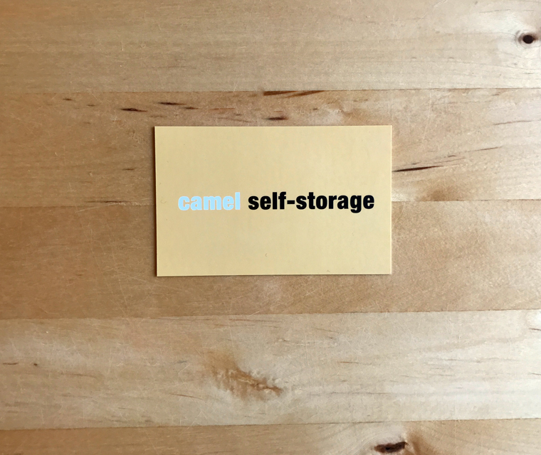 Camel Self Storage business card